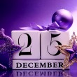 Decorative Calendar for Christmas Day in Purple Theme — 图库照片