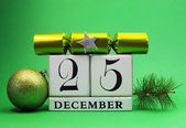 Decorative Calendar for Christmas Day in Green Theme — Stock Photo