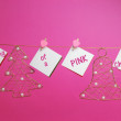 """I'm dreaming of a PINK Christmas"" message — Stock Photo"