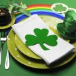 St Patrick's Day party table setting — Stock Photo #19108551