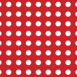 Bright red seamless polkdot pattern background — Stock Photo #20019751