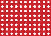 Bright red seamless polka dot pattern background — Stock Photo