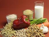 Nízký gi potraviny pro zdravou stravu — Stock fotografie
