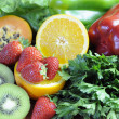 Sources of Vitamin C for healthy diet and fitness - close-up. — Stock Photo #21636911