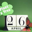 Arbor Day, plant a tree on April 26 — Stock Photo