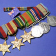 Stock Photo: WWII Australimilitary army corps medals and memorabillifor ANZAC Day April 25, Remembrance Day November 11, or Australimilitary