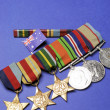 WWII Australian military army corps medals and memorabillia for ANZAC Day April 25, Remembrance Day November 11, or Australian military - Stock Photo