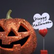 Happy Halloween orange color fun pumpkin  — Stockfoto