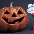 Happy Halloween orange color fun pumpkin  — Zdjęcie stockowe