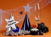 Happy Halloween party decorations — Stock Photo