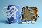 Happy Father's Day breakfast — Stock Photo