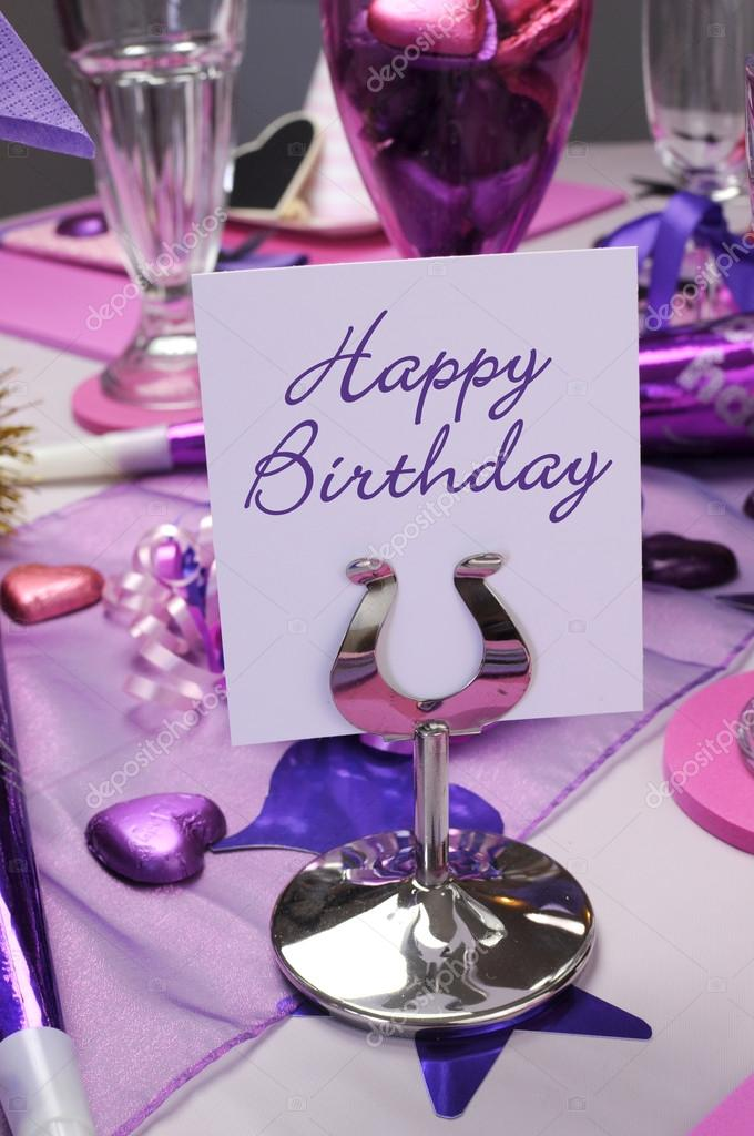 Purple Table Decorations For Birthday