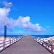 The Grange Jetty pier taken at Grange, South Australia on sunny summer spring day. — Stock Photo