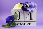 Save the date calendar for August 4, International Friendship Day — Stock Photo