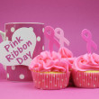 Pink Ribbon Breast Cancer Awareness October — Stock Photo
