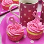 Pink Ribbon Breast Cancer Awareness October — Stock Photo