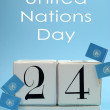 Save the Date calendar for October 24, United Nations Day — Stock Photo