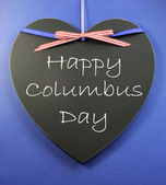 Happy Columbus Day decorations — Stock Photo