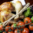 Christmas or Thanksgiving roast chicken turkey dinner meal — Stock Photo #29289681