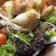 Christmas or Thanksgiving roast chicken turkey dinner meal — Stock Photo #29289685