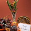Stock Photo: Happy Thanksgiving Day breakfast with grapes and jelly