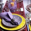 Party table place setting — Stock Photo #30285127