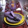Party table place setting — Stock Photo #30285225