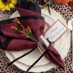 Şükran yemek masası yer ayarı — Stok fotoğraf