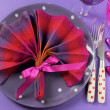 Party table place setting — Stock Photo #30285687