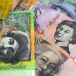 Australian paper notes money cash — Stock Photo