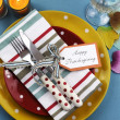 Thanksgiving individual dining table place setting — ストック写真
