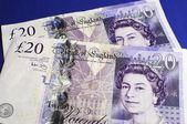 English Bank of England Twenty Pound Notes — Stock Photo