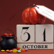 Halloween Save the Date Calendar — Stock Photo #30834335