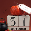 Stock Photo: Halloween Save the Date Calendar