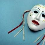 Ceramic mask for actor, theatre concept — Stock Photo #31072923