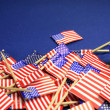 USA Stars and Stripes flags background — Stock Photo #31586269