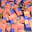 USA Stars and Stripes flags background — Stock Photo
