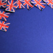 UK British Union Jack flags background — Stock Photo