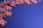 UK British Union Jack flags background — Stock Photo