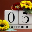Save the date calendar for individual October dates — ストック写真