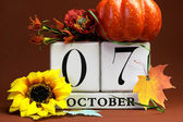 Save the date calendar for individual October dates — Stock Photo