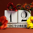 Seasonal Save the Date calendar for individual October date — 图库照片