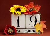 Save the date calendar dates for individual days in October — Stock Photo
