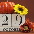 SAve the date calendar for individual days in October — Stock Photo