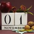 Save the Date individual calendar days for special events and holidays — Stock Photo