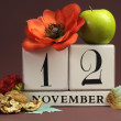 Save the date calendar for every individual day in November — Foto de Stock