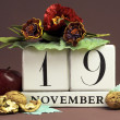 Save the date calendar for every individual day in November — 图库照片