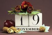 Save the date calendar for every individual day in November — Stock Photo
