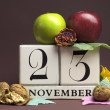 Постер, плакат: Individual day in November Save the Date calendars