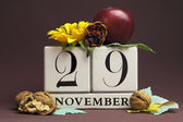 Individual day in November Save the Date calendars — Stock Photo